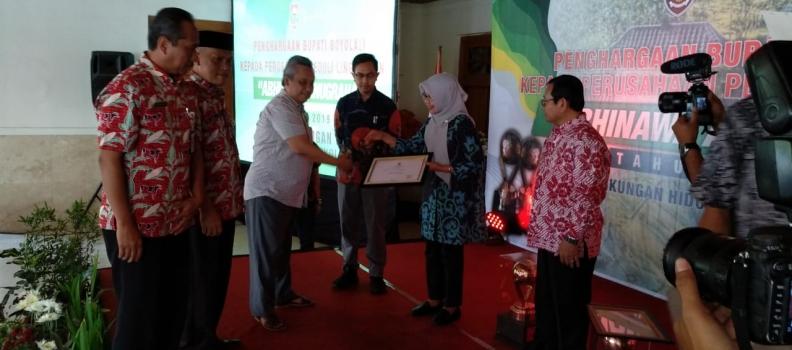 PT. SRIWAHANA ADITYAKARTA,Tbk Meraih Penghargaan Perusahaan Peduli Lingkungan 2019