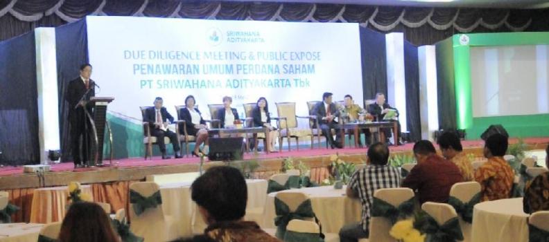 Sriwahana Adityakarta Go Public
